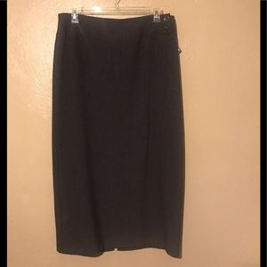 Tribal long charcoal skirt size 16, polyester